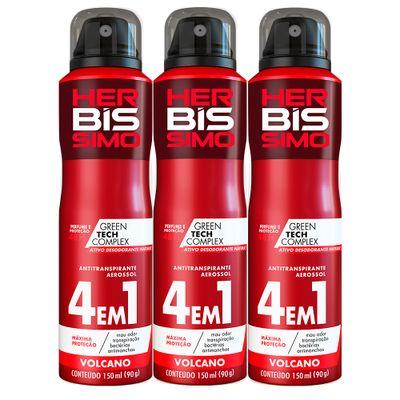 Kit-Desodorante-Aerosol-Antitranspirante-Herbissimo-Volcano-150ml-com-3-unidades